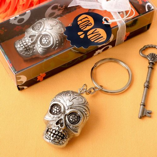Halloween Day Of The Dead Skull Keyring Table Gift Favor
